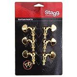 Stagg KG395GD sintonizadores para la guitarra eléctrica del oro 3 de marzo de individuo