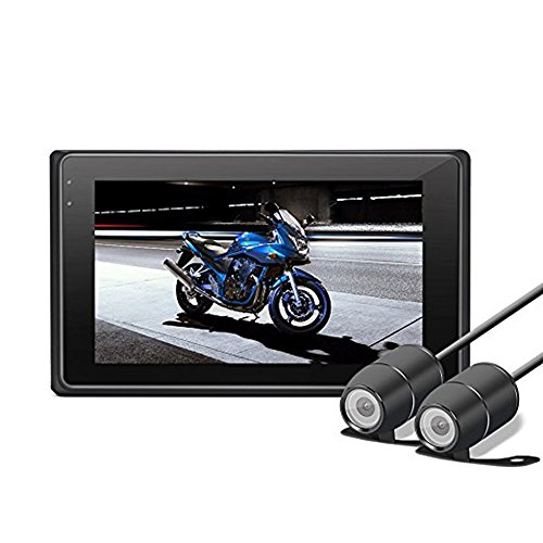 """Dash Cam para Moto Motocicleta Cámara alta definición 3.0"""" 1080P+720P grabadora de..."""
