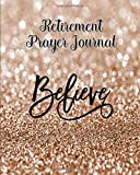 Retirement Prayer Journal - 60 days of Guided Prompts and Scriptures | Believe | Brown Glitter