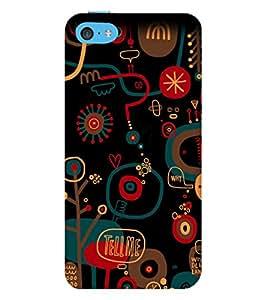 EPICCASE Tell Me Mobile Back Case Cover For Apple iPhone 5c (Designer Case)