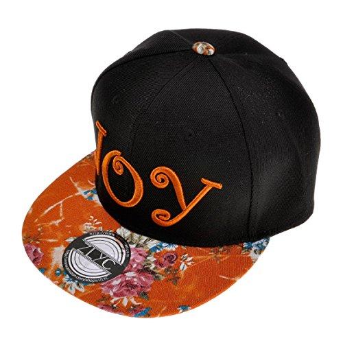 ZLYC Damen Visor Snapback Floral Print Adjustbable Baseball Cap Baseballmütze (Floral Cap)