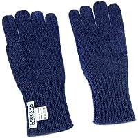 100% guantes de cachemira hombres, guantes de invierno de cachemira de punto, hilado de cachemira mongol (composición 26/2), cachemir de alta gama, guantes suaves y cálidos Azul