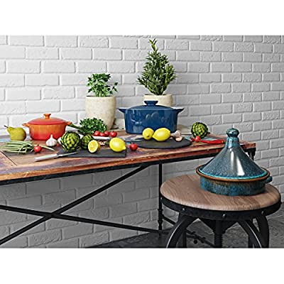 Terracotta Tagine, Round Shape Virtually Non Stick Surface Suitable For Direct Heat, Microwaves, Gas And Electric Hob , Dishwasher And Freezer Safe, Ideal For AGA's And BBQ's Cooking, Overall Size Of 19cm Height x 24.5cm Width x 21.5cm Depth by Cookware E