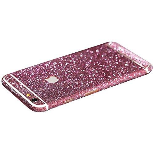 Dealspanks® Bling Glitzer Funkeln Voll Körper Sticker Vorder- und Rückseite Film Protektor Haut für Apple iphone 6 4.7 Inch (Tiefrosa)