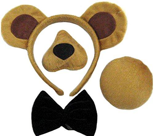 Bären Kostüm Ohren - Bristol Novelty DS146 Bär Accessoiren, Unisex-Kinder, braun, Einheitsgröße