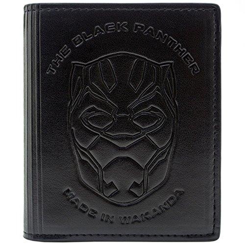 tellt in Wakanda Schwarz Portemonnaie Geldbörse (Black Panther Marvel Kostüm Film)