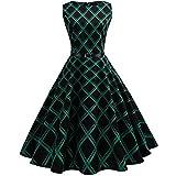 Die besten Tonsee Partykleider - Frauen Vintage Ärmellos Kleid,Tonsee Hepburn Style Retro-Wind gedruckt Bewertungen