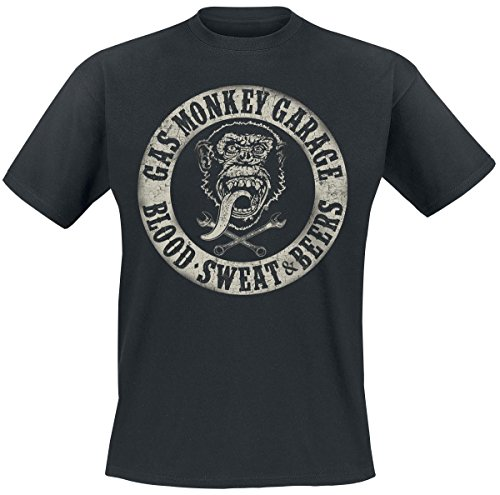 Gas-Monkey-Garage-Blood-Sweat-Beers-T-Shirt-black