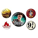 Véritable Warner Bros Harry Potter Gryffondor 5 pièce Badge Set House Crest 9 3/4