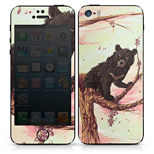 Apple iPhone SE Case Skin Sticker aus Vinyl-Folie Aufkleber Bär Braunbär Bärchen DesignSkins® glänzend