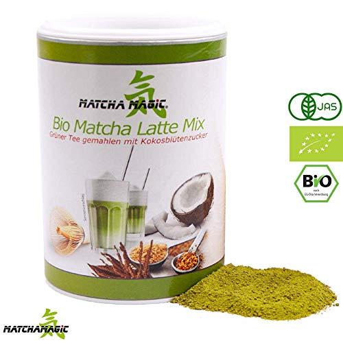 atte Mix | Premium Matcha-Latte Pulver für Matcha Bio Latte, Smoothie & Co | schnell & einfach zubereitet | Mit original Matcha Tee-Pulver aus Japan | 100% Bio | Matcha Pulver 200g ()