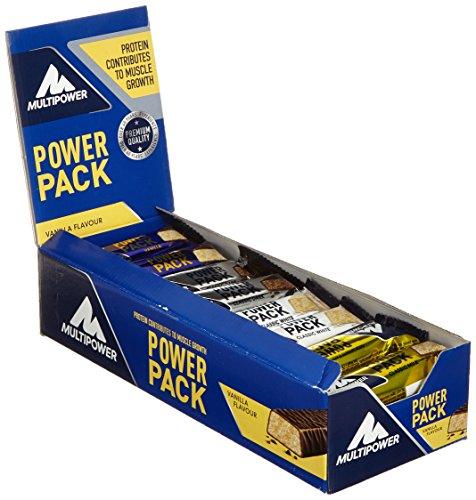 Multipower Power Pack Mix Box Protein Riegel – Eiweißriegel mit 27{cc8a287718b91a55f384f17d82d36d8d16fc6fe99cceec8806d7c7cd621a9fca} Protein – klassischer Power Bar als gesunder Sport-Snack – in 4 leckeren Geschmacksrichtungen – 24x35g