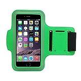 Running Teléfono Celular Funda Brazalete Con 2 Fundas Para iPod/iPhone 6s Plus/Samsung Galaxy S7 S6 S5 Note y Llave Tarjeta De Identificación De Dólar Para Todo Tipo De Deportes Verde 5.5'