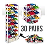 #9: J Go Portable Folding Amazing Shoe Rack With 10 Layers (Holds Approx 30 Pairs)