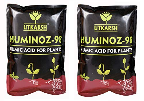 Utkarsh Huminoz-98 (1 kg) (Biologically Activated Humic Acid 98% for Plant) (Set of 2)