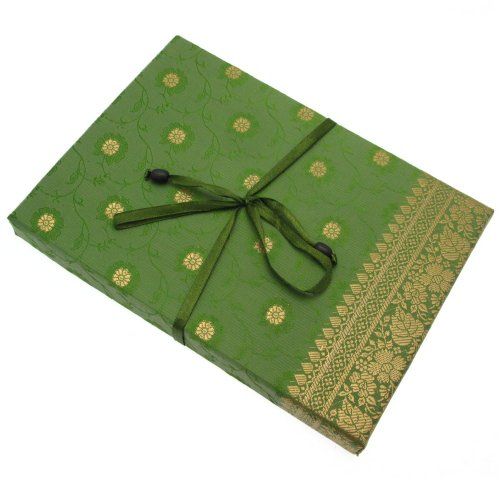 Fair Trade Briefpapier-Set Sari 170 x 230 mm - grün