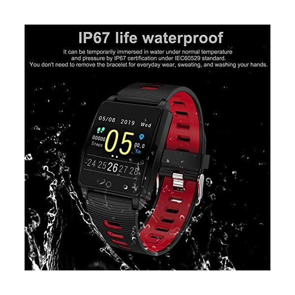 SmartWatch, Padgene Reloj Inteligente IP67 Impermeable Bluetooth Pulsera Actividad Deportiva Múltiples Lenguajes con Pulsómetro Monitor de Sueño, Música, Notificación de Llamada Mensaje para Android e iOS 3