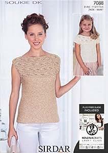 Sirdar Soukie DK Ladies & Girls Sleeved & Sleeveless Top Knitting Pattern 7088