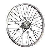 Taylor-Wheels 20 Zoll Hinterrad Aluminiumfelge mit Nexus Inter-3 RBN - Silber