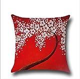 Longless Tridimensionale alberi dipinti fiori di biancheria in cotone cuscino cuscino automobile supporto lombare kit pad
