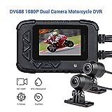 Blueskysea DV688 DVR Dash Cam Moto GPS 1080p Telecamera Anteriore Posteriore Dual Lente Registrazione Fotocamera 2.35' LCD IP67 Impermeabile Screen 130°Night Vision Ultima Version