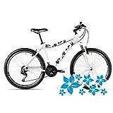 style4Bike Blümchen Aufkleber für das Fahrrad Blumen Sticker mehrteiliges Set Bike | S4B0084