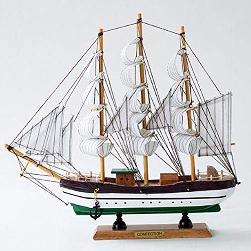 Kostüm Segelboot - DDCYY Holz Segelboot Dekoration, Segeln Modell Dekoration, Dekoration, Handwerk Boot, Kreative Geschenke, Wohnzimmer BüRo, Souvenir (30X30 cm)