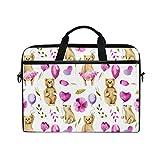 HUAYEXI HandtascheLaptop Nahtlose Muster Aquarell Bären halten Luft,Umhängetasche Laptop Tasche Handtasche Business Aktentasche