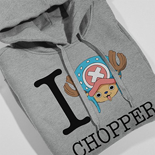 I Heart Tony Tony Chopper One Piece Women's Hooded Sweatshirt Heather Grey
