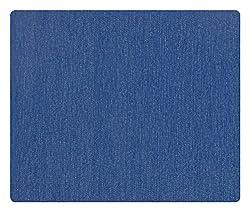 Siyarams Mens Denim Trouser Fabric (Blue)