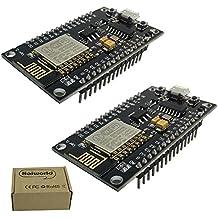 Haiworld Neue Version NodeMCU LUA WiFi Internet Development Board V3 Funkmodul Basierend CH340 ESP8266 EK1677 für Arduino Kompatibel (Packung mit 2)