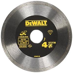 51 N9WkCWOL. SS300  - Dewalt DT3736-XJ DT3736-XJ-Disco de Diamante de Alto Rendimiento sinterizado para Azulejos 125x22.2mm, 0 W, 0 V