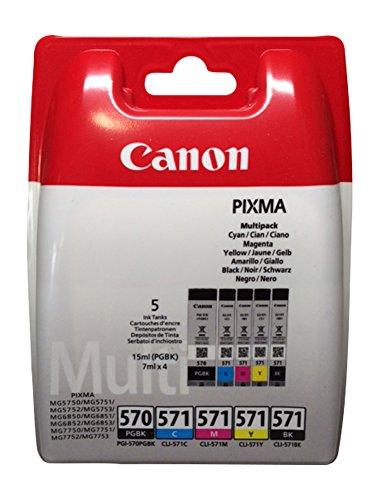 Cartucce per stampanti Canon Pixma ts5050, ts5051, ts5053, ts5055, ts6050, ts6051, ts6052, TS8050, ts8051, ts8052, ts8053, ts9050, ts9055 5er Multipack