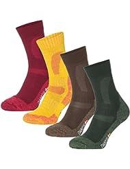 3 ou 1 paires de Chaussettes de Randonnée et Trekking en Laine Mérinos de DANISH ENDURANCE pour les hommes et femmes, chaussettes chaudes parfaites pour l'hiver et Noël, les activités en plein air