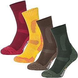 Calcetines de Senderismo de Lana Merino (De Varios Colores - 3 Pares, EU 39-42 // UK 6-8)