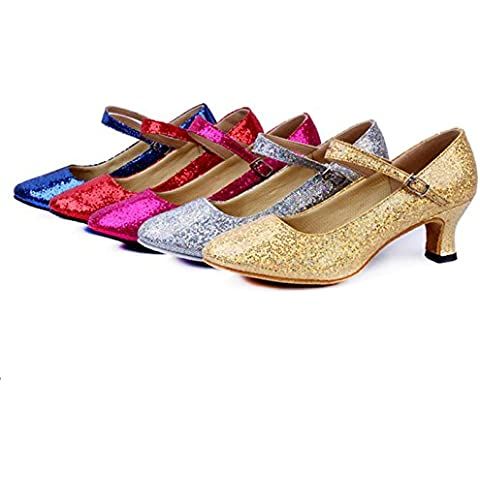 CBIN&HUA Tacco cubano di donne danza scarpe sandali Paillette ,
