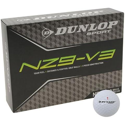 Dunlop NZ9 Sport V3-Accessorio per allenamento a basso Volo di palla da Golf, confezione da 12 - Dunlop Golf Irons