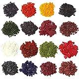 AOND 68g 16 Farben Kerzenwachs Farbe Kerzenfarbe Set, Wachsfarben für Kerzen, Farbe für Kerzenherstellung Kerzen Färben Farbe Candle Dye für Paraffin Sojawachs Kerzenwachs (16 Farben x 4.25g)