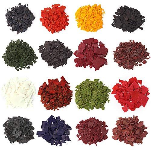 Coloranti in scaglie per creazione di candele di cera fai da te, in 16 colori a scelta dal peso di 4,25 g ciascuno