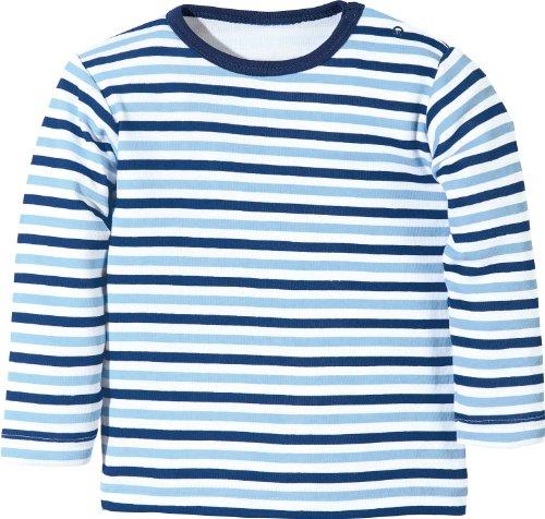Baby Butt Langarmshirt Interlock-Jersey blau/weiß Größe 44