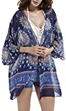 KE1AIP Summer Swim Beach Cover Up – Femmes Boho Chiffon Kimono Cover-ups – Cardigan pour Bikini – Maillots de bain pour femme Beachwear Beach Dress – One Sizes