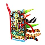 #5: Kidsbele Toys For Babies Soft Animal Tail Book Rattle Mobile Baby Educational Toys Stroller Crib Hanging Cloth Coloring Book For Infant