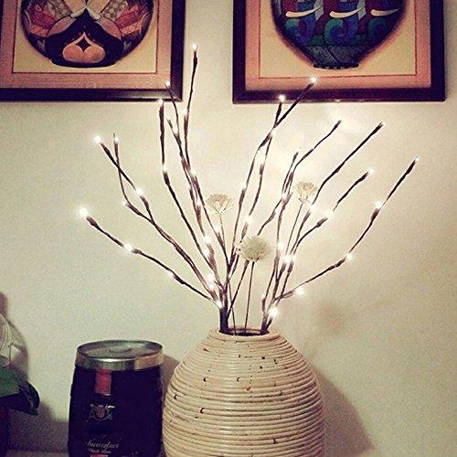 BBsmile Iluminación de Navidad LED Rama de sauce Lámpara Floral Luces 20 bombillas Casa de navidad Decoración del jardín del partido Iluminación de Navidad de exterior/interior