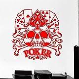 guijiumai Dctal Casino Autocollant Crâne Jeu Decal Affiches Gamble Stickers Muraux en Vinyle Parede Decor Mural 19 Couleur Choisir Casino Stic 1 116x116cm