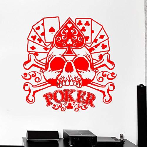 guijiumai Dctal Casino Aufkleber Skull Gambling Decal Gamble Poster Vinyl Wandtattoos Parede Decor Wandbild 19 Farbe Wählen Sie Casino Stic 1 116x116cm