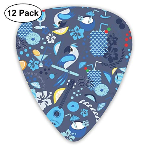 Happy Hour Hawaii Blues_1638 Classic Celluloid Picks, 12-Pack, For Electric Guitar, Acoustic Guitar, Mandolin, And Bass (Halloween Hawaii Happy)