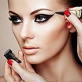 Ladygo - Eyeliner in gel impermeabile a lunga tenuta, con penna nera, esclusiva forma di rossetto dorato, eyeliner a tubo nero, matita per il trucco, non sbiadisce e non provoca reazioni