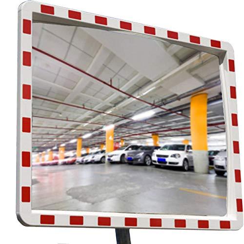 professioneller Verkehrsspiegel mit Reflektoren Konvexspiegel Sicherheitsspiegel Beobachtungsspiegel 40x60 cm Top Sicht mit Dichtung