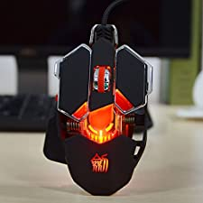 JIANSHENGYIZU JS-L10 Classic 10-Key Wired Professional Game Mouse w/ Colorful LED Light