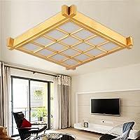 Lilamins Hlzerne Decke Licht Lampen Tatami Zimmer Rechteckig Und Holz Lampe Tri Color